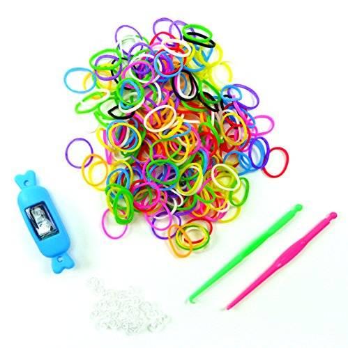 Spielzeug 2079 Kinder Uhr 200 teiliges Loom Bands Set Kinder Loom Bänder mit Uhr komplett Set