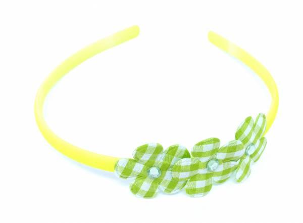 Kinder Damen Blumen Haarreif schmal neon Farben gelb grün