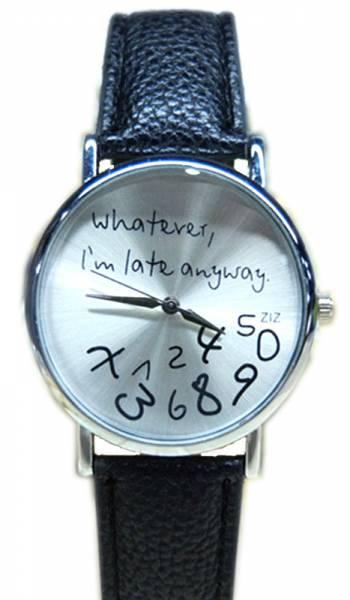 """Uhren Armbanduhr 4380 Herren-Uhr Damen-Uhr """"I\'m late..."""""""