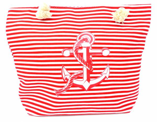 Style Damen-Tasche Schulter Strand-Taschen Anker-Motiv rot