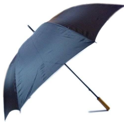 Regen-Schirm 2641 Top Umrella Hochwertiger Schirm Designer Regenschirme mit Holz Griff - Großer Durchmesser Top Qualität (black/Schwarz)