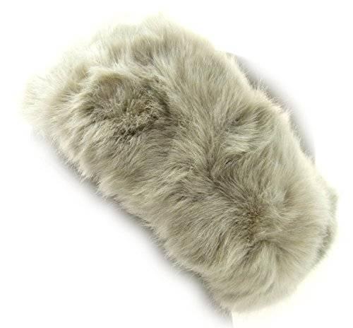Winter Stirnbänder in TOP Qualität aus Baumwolle & Fell (BEIGE)