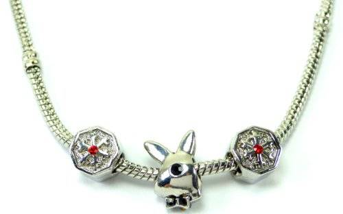 edle Beadskette in einzigartiger Zusammenstellung Ice Bunny Red OW3