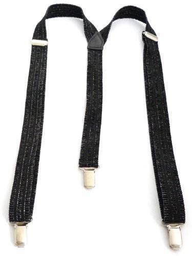 Flexibler Hosentäger Länge einstellbar 2,5cm Breite SCHWARZ O84