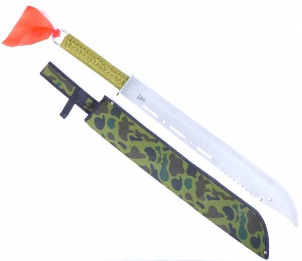 Machete XXL Messer Outdoor Combat Knife Ninja-Schwert silber 66cm