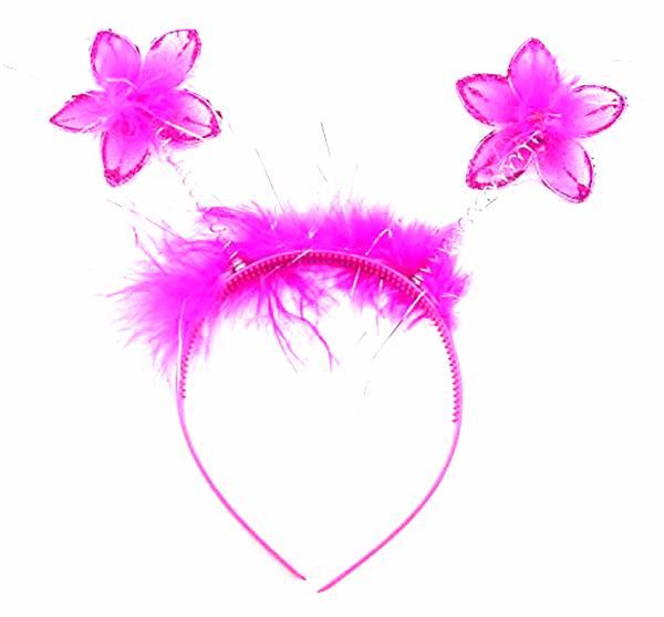Haarreif Kinder Erwachsene Fee Elfe Kostüm Haarspange mit Fühlern PINK