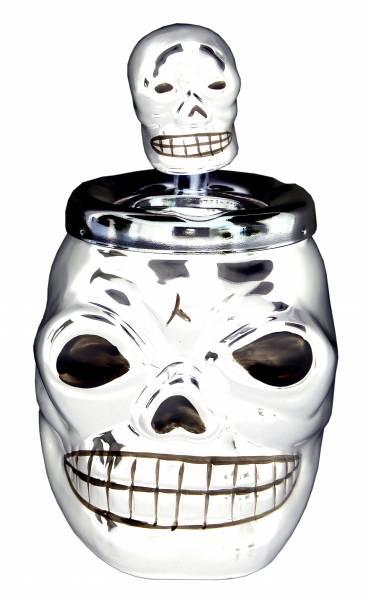 Aschenbecher Halloween Dreh-Aschenbecher schwarz Killer Gothic Punk Horror Totenkopf Ascher ash-tray Skull 4424