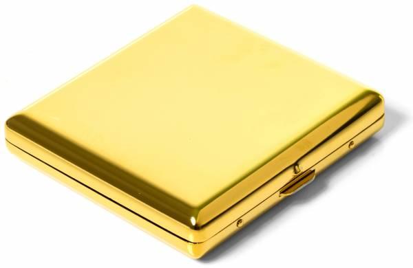 Premium Zigaretten-Etui Zigarettenbox Zigarettenschachtel in Gold-Farben für 20 Zigaretten