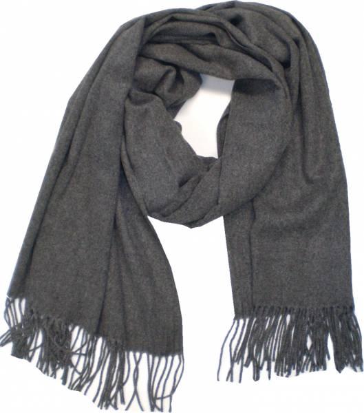 XXL Schal Herren Damen riesen Poncho / Schal einfarbig grau Herbst Winter Luxus Scarfs Deluxe Schals super weich soft (grey) 4763