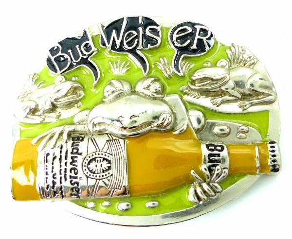 Guertel Schnalle 4464 BEER BUD Koppel Gürtel Schnalle Metal Weiser yellow Buckle