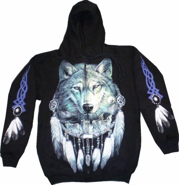 Kaputzen Pullover 4632 Herren Damen Gothic Punk Pullover Kaputzen Biker Jacke S-XL black Sherpa Hoodie Sweatshirt Kaputzen Pulli #14