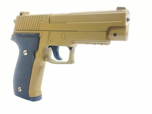 Softair Pistole Metall TAN Federdruck Gürtel-Holster 0,5J