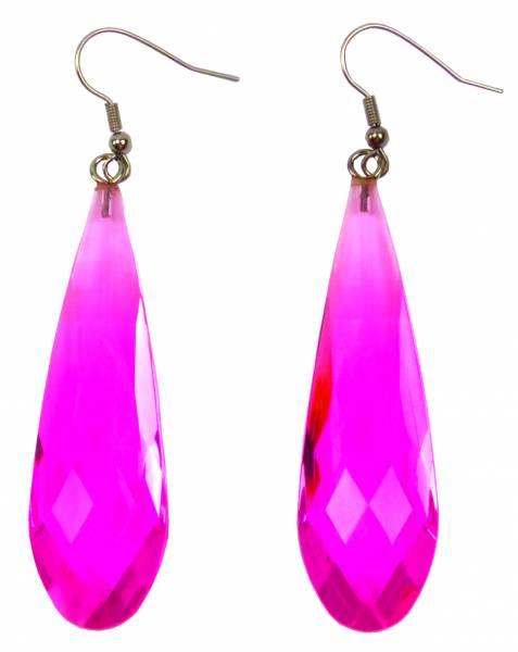 Ohrringe Damen Hänger-Ohrring 2Stk Set neon-Farben Disco Party Schmuck Ohrring Set 6cm Earrings Neon Colors 5279