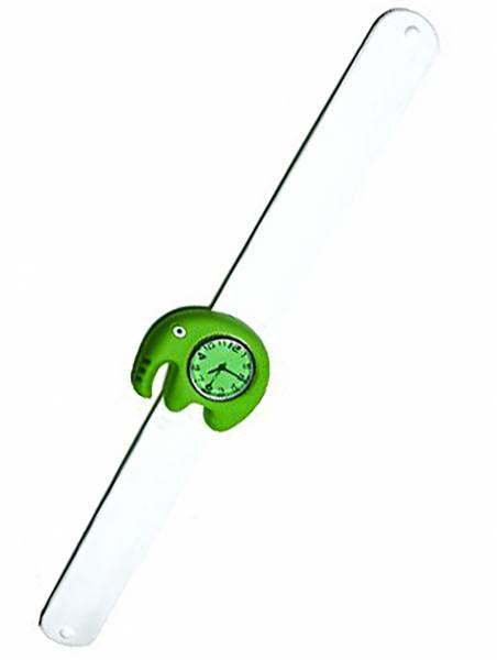 süße Kinderuhr mit Slaparmband aus Silikon