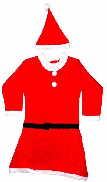 Weihnachten.Kostüm Weihnacht-Frau Anzug-Kostüme Fasching Halloween Christmas-Suit Woman Verkleidung Karneval Fasching Set: ca S-M