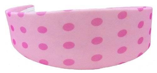 Haar-Reifen 1977 Haar Klammer Haarreif rosa mit pinkem Pünktchen Muster