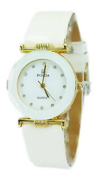 Damen-Uhren weiss hochwertige Designer Armband-Uhr Marken-Uhr Rosda