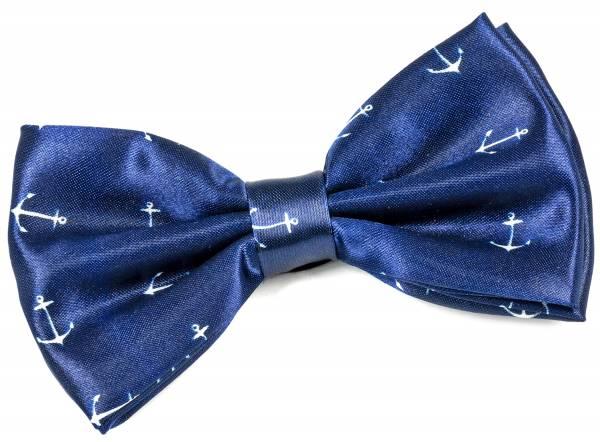 Premium Vorgebundene Herren Damen Motto Anzug Fliege Maritim Blau Anker