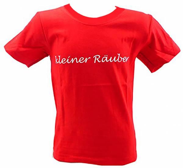 Kinder-Hemd grün lustige Sprüche T-Shirts 1-6 Jahre viele Farben KLEINER RÄUBER (5-6 J, rot)