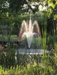 Garten-Teich Springbrunnen Komplett-Set inkl 3 Aufsätze und Pumpe