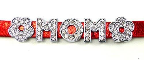 viele tolle Designer Sprüche Armbänder mit Strass Buchstaben (MOM red)