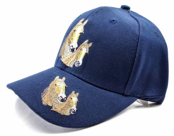 Muetze 4486 Kinder Pferde Cappy Child Horse Cap Retro Mütze (blau)