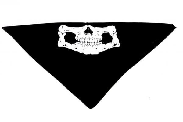 Nickituch Halstuch Totenkopf Schwarz 54cm