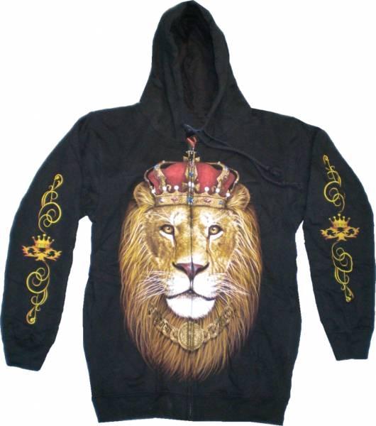 Biker Jacke 4633 Herren Damen Pullover Gothic Punk Kaputzen Biker Jacke S-XL black Sherpa Hoodie Sweatshirt Kaputzen Pulli #20