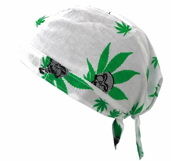 Kopf-Tuch Herren-Damen Kinder-Kopftuecher Bandana Headscarf viele Farben Motiv Cannabis