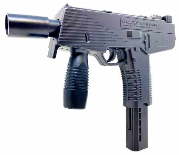 Softair Pistole UZI Maschine Gun KidsToy Federdruck 25cm 0,5 Joule