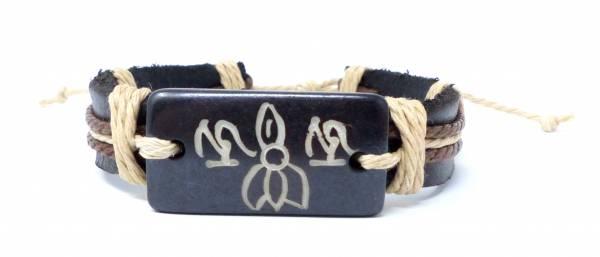 Armband Herren Damen Leder-Armbänder Handmade - Black G