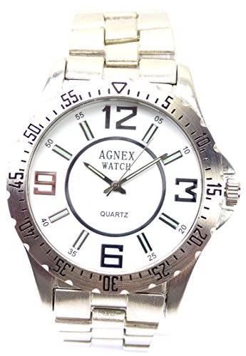 hochwertige Designer Piloten Armbanduhr DG Trendit Agnex Silver