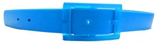 neon Silikon Gürtel einstellbare Längen - Farbe wählbar (BLAU)