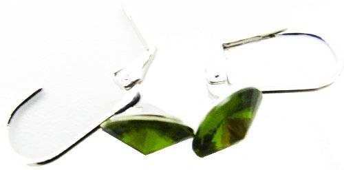 Damen Ohrringe 2 Stk, Silber mit echtem Swarovski Steinen