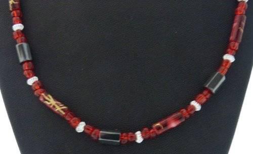 magnetische Halskette oder Aarmband viele Farben (rot)