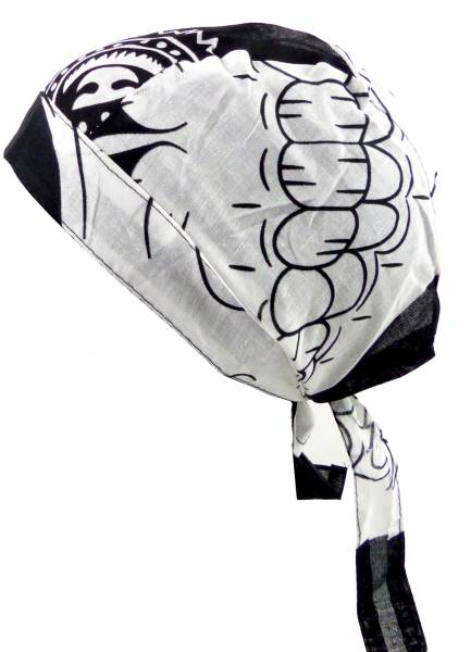 Kopftücher-Herren Damen-Kopftuch schwarz-weiss Motiv Totenkopf Kinder-Sonnenschutz Junge Mädchen Kopf-Tücher Headscarf Bandannas black-white Logo