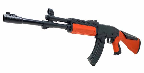 Softair Gewehr Airsoft Gun Gag AK47 mini Rifle 60cm Federdruck Kids Toy 0,5J