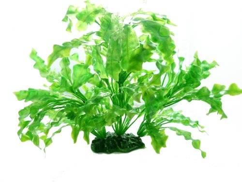 Terrarium Pflanze 2365 Grün 35cm auf Stein PF107