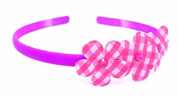 Kinder Damen Blumen Haarreif schmal neon Farben lila pink