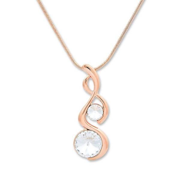 Damen-Halskette Rose-gold Tillberg-Collier mit Swarovski Kristallen Ketten-Anhänger Woman Necklace Silver Swarovski Cristall-Starlight