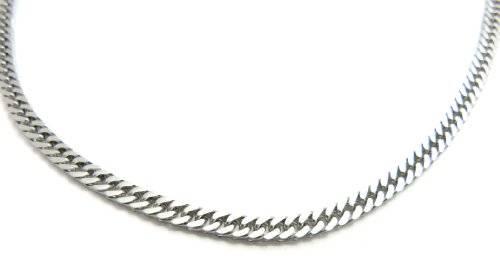 Silberkette Herren Damen Halskette Silber flache Panzerkette Halskette Silber 50 cm x 5mm