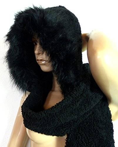 Cosplay-Wintermützen-Set-Winter-Muetze-Schal-Handschuhe-Winterset (schwarz)