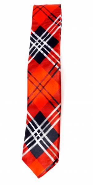 Herren Damen Krawatte Anzug Schlips rot kariert