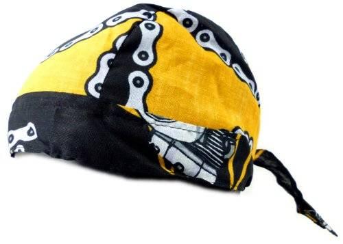 Kopf-Tuch 2304 viele Kopftuecher Bandana Headscarf Bandannas für Kinder und Erwachsene (yellow chain)
