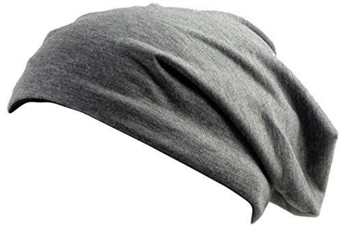 Beanie Mützen 2 Farben 1877 Wende Mützen Long Beanie Color Change Caps (grau/schwarz)