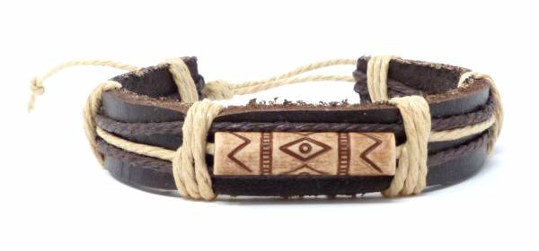Armband Herren Damen Leder-Armbänder Handmade - Indiana