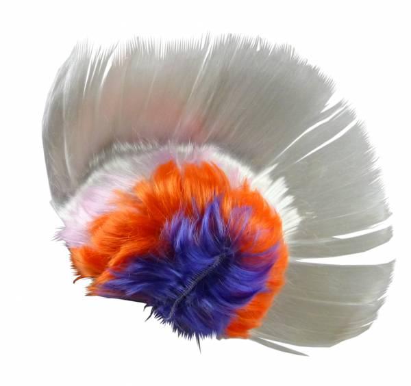Perücke weiss WM Fan-Artikel Herren Damen Haar-Ersatz Punk-Rock Fasching Halloween Frisur Karneval Neon Haar Peruecken 30cm (white)