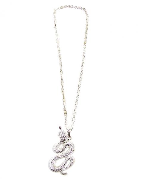 Schlangen Kette Gothic Kette Silberkette mit Anhänger SNAKE