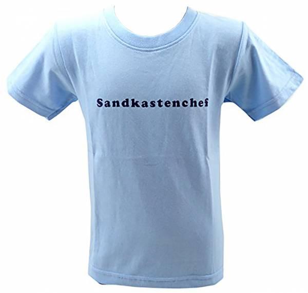tolle Kinder T-Shirts 1 - 6 Jahre viele Farben SANDKASTENCHEF (5-6 J, hellblau)