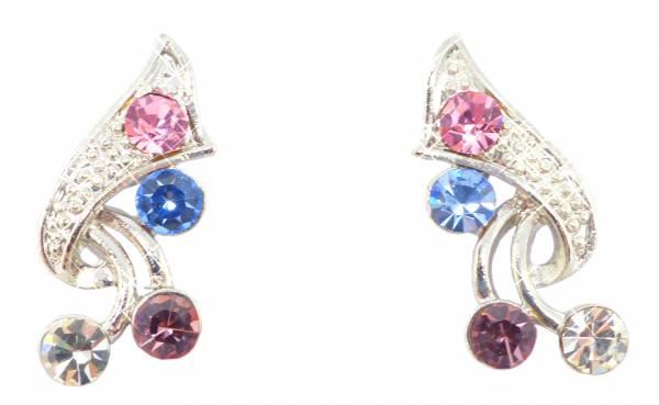 Damen Ohrringe silber mit Swarovski Steinen besetzt